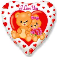 Сердце Влюбленные мишки