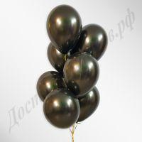 Черные воздушные шары металлик