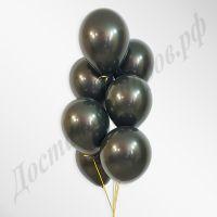 Черные воздушные шары пастель