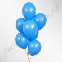 Голубые воздушные шары пастель