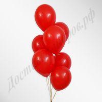 Красные воздушные шары пастель