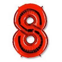 Шар Цифра 8 Красные