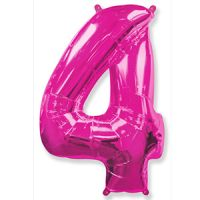 Шар Цифра 4 Розовая