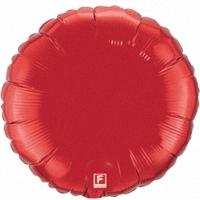 Красный круг из фольги