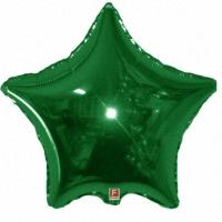 Зеленая звезда из фольги