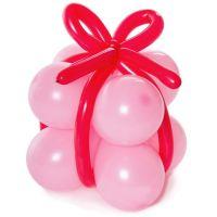 Подарок из шаров (розовый)