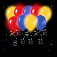 Цветные светящиеся шары