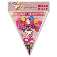 Гирлянда-вымпел Hello Kitty 360см