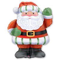 Фигура из фольги Новый год Санта