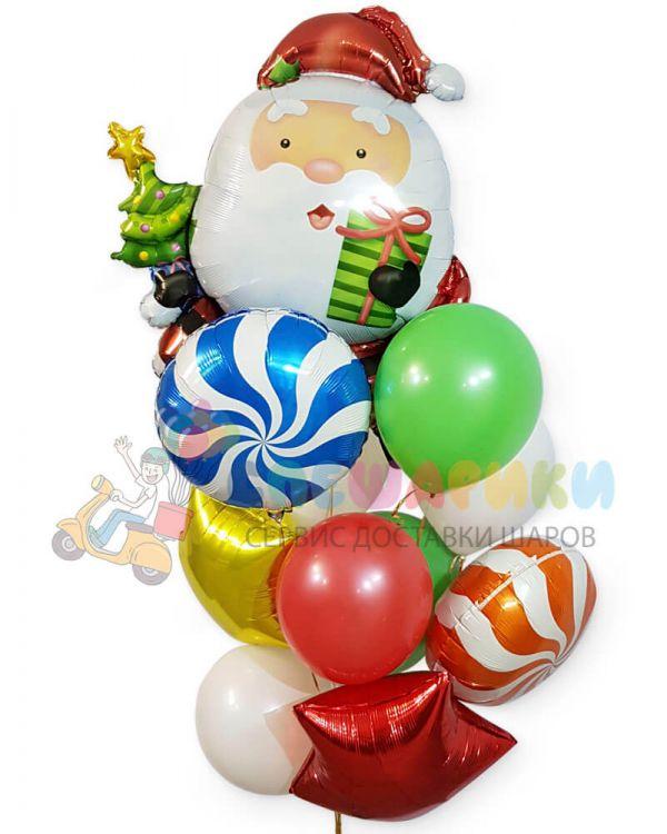 Букет Новогодний с Дедом Морозом