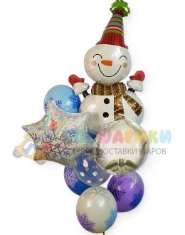 Букет Новогодний Снеговик