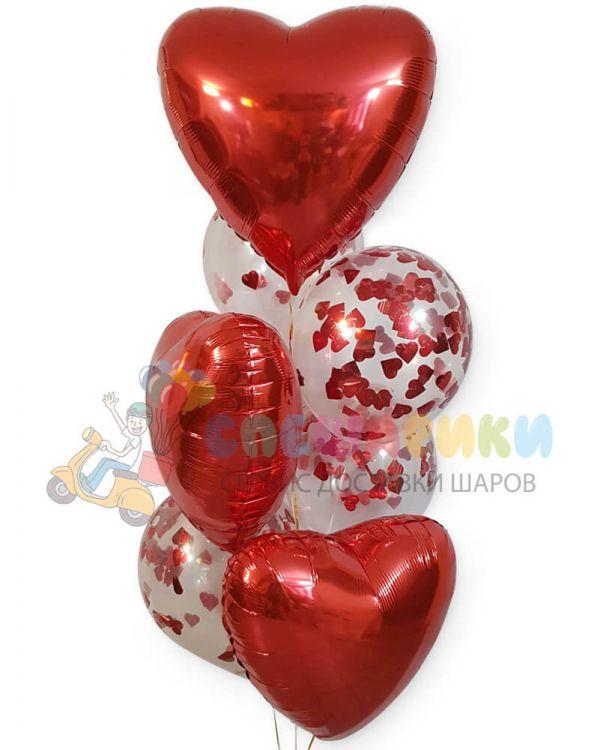 Букет Сердца с конфети