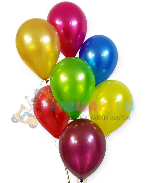 Воздушные шары (ассорти) металлик