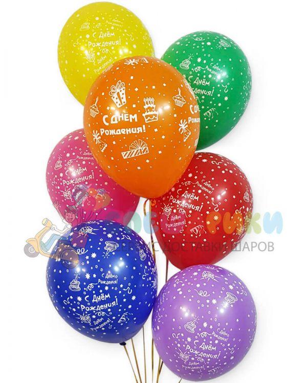 Шарики под потолок С днем рождения (подарки)