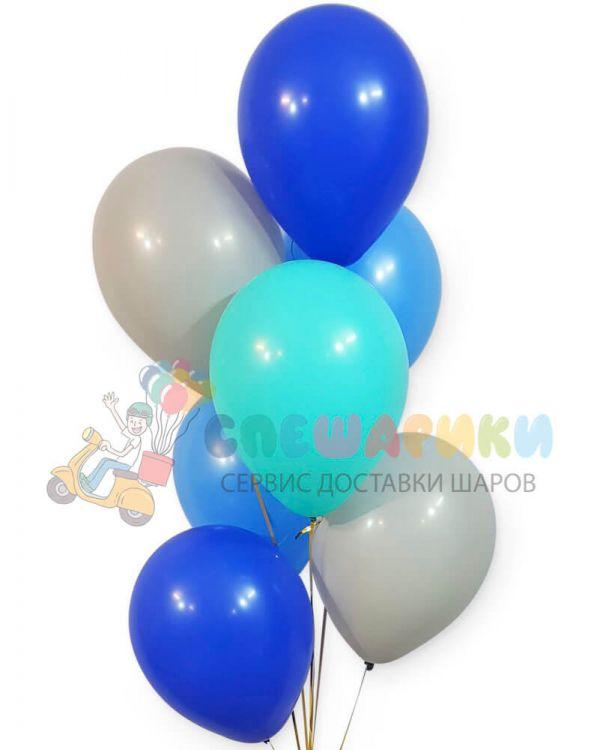 Шары серый-тиффани-голубой-синий