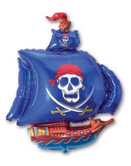 Корабль пиратский синий