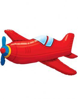 Самолет красный винтаж
