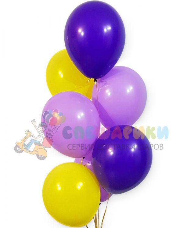 Шары фиолетовый-сиреневый-желтый
