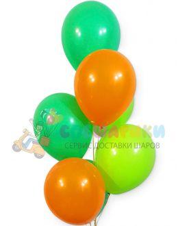 Шары зеленый-оранжевый-лаймовый