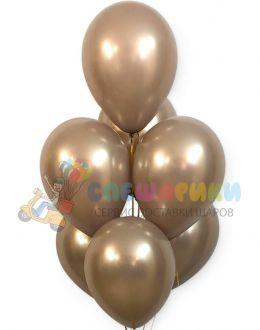 Жемчужно-бежевые воздушные шары