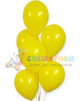 Желтые воздушные шары пастель