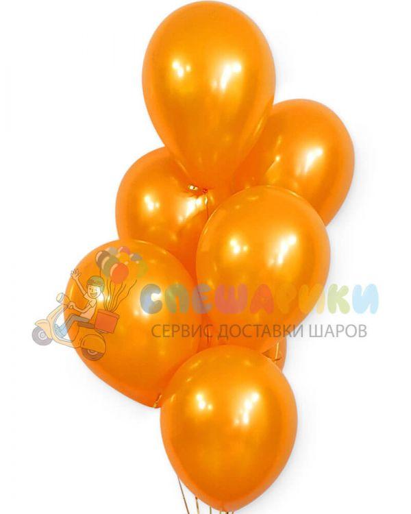 Оранжевые воздушные шары металлик