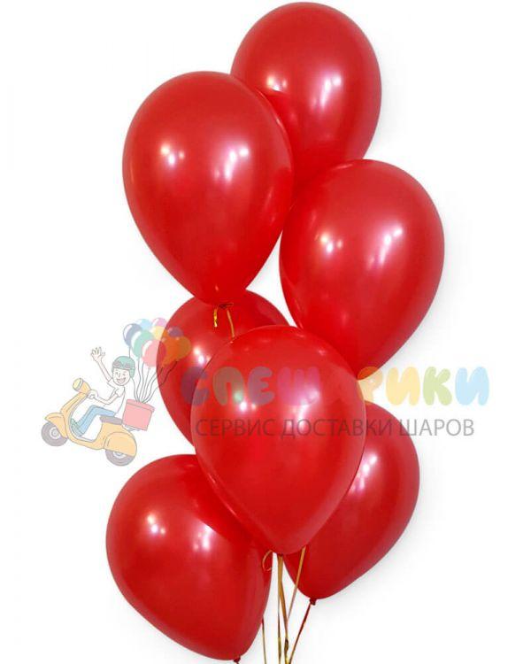 Красные воздушные шары металлик