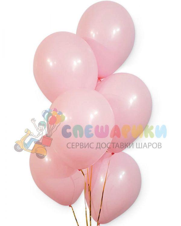 Розовые воздушные шары пастель