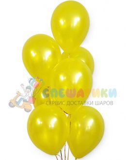 Желтые воздушные шары металлик