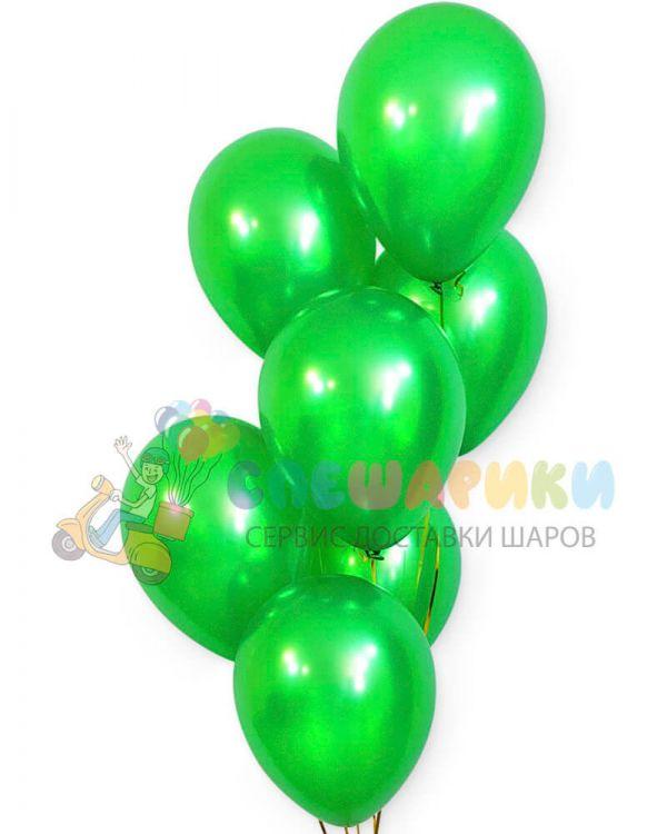 Зеленые воздушные шары металлик