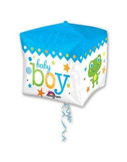 Шар 3D Куб Малыш мальчик