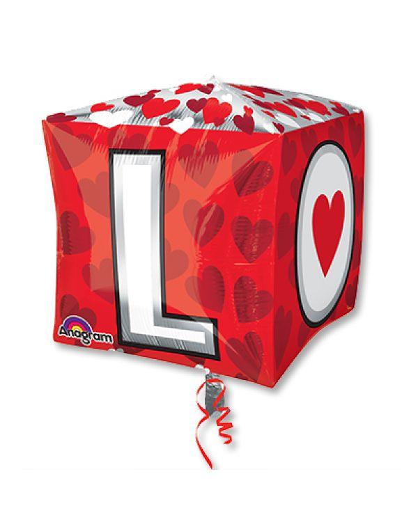 Шар 3D Куб L-O-V-E