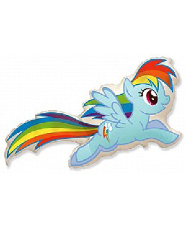 Фигура из фольги Пони Пинки и радуга