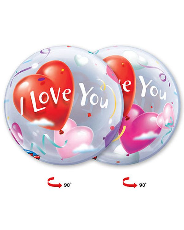 Прозрачный шар BUBBLE Шары-Сердца