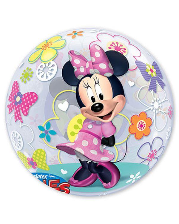 Прозрачный шар BUBBLE Disney Минни Бантики Цветы
