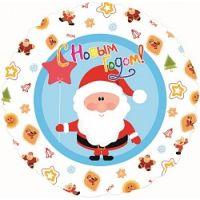 Круглый шар С Новым Годом Дед Мороз