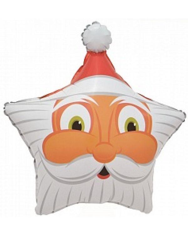 Шар Звезда Голова Деда Мороза