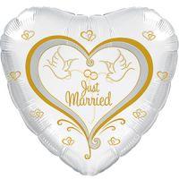 Сердце Свадебные голуби белое