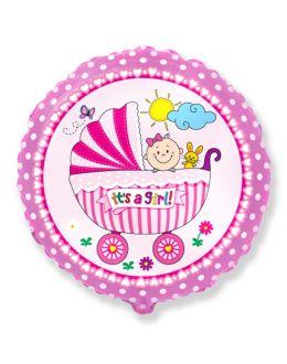 Круглый шар Детская коляска для девочки