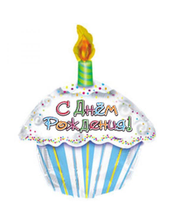 Фигура из фольги С Днем рождения (тортик)