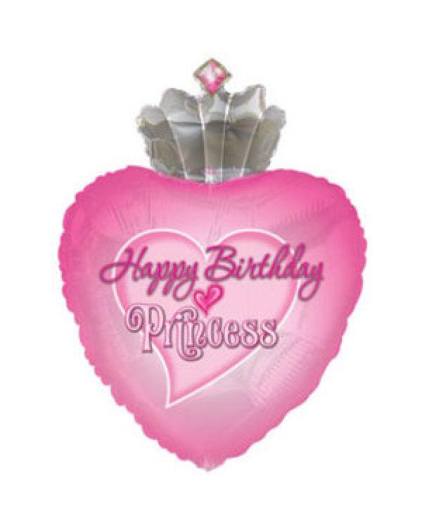Фигура из фольги С Днем рождения (принцесса)