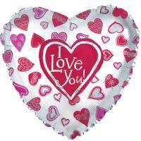 Сердце Я люблю тебя - Много сердец