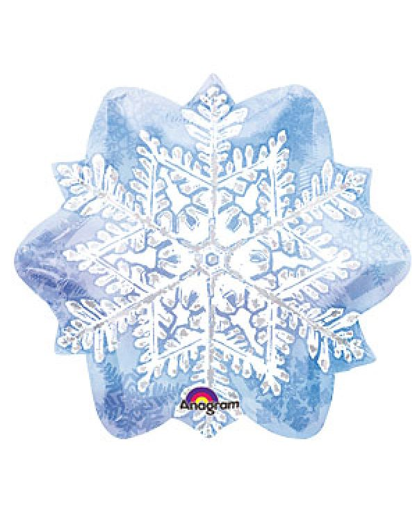 Фигура из фольги Новогодняя снежинка