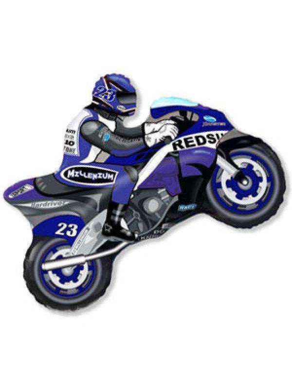 Фигура Мотоцикл голубой