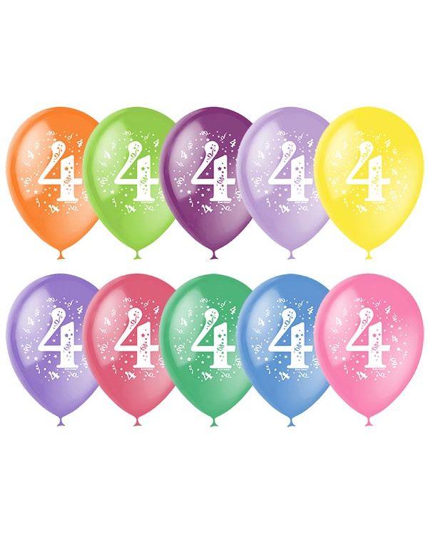 Шарики под потолок Цифра 4 (Четыре)