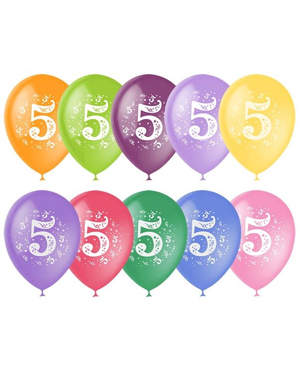 Шарики под потолок Цифра 5 (Пять)