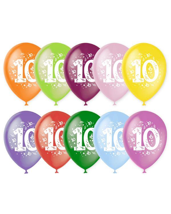 Шарики под потолок Цифра 10 (Десять)