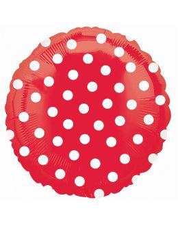 Круглый шар Горошек Красный