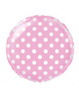 Круглый шар Горошек Розовый