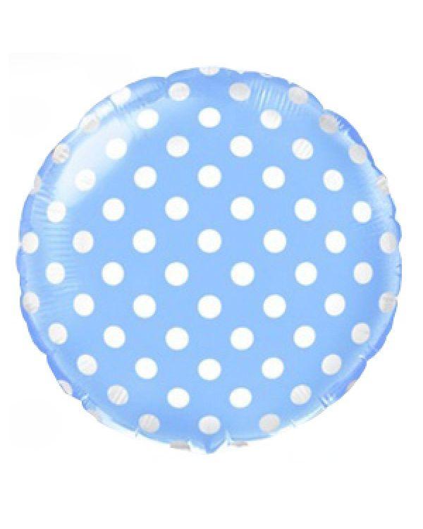 Круглый шар Горошек Голубой